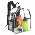 Clearworld Clear Reflective Mini Backpack - Stadium Approved Transparent Backpack for Concert, Security Travel &Sports