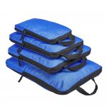 4 Set Compression Packing Cubes, Travel Luggage Organizers and Storage Packing Cubes