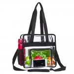Clearworld Heavy Duty Clear Tote Bag, Stadium Approved Clear Bag with Adjustable Shoulder Strap and Multi-Pocket