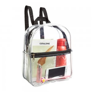 Clearworld Clear Mini Backpack, Stadium Approved Heavy Duty Cold-Resistant Transparent PVC Backpack
