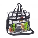Clearworld Clear Tote Bag with Shoulder Strap & Front Pocket