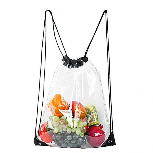 Clearworld Clear Drawstring Bag